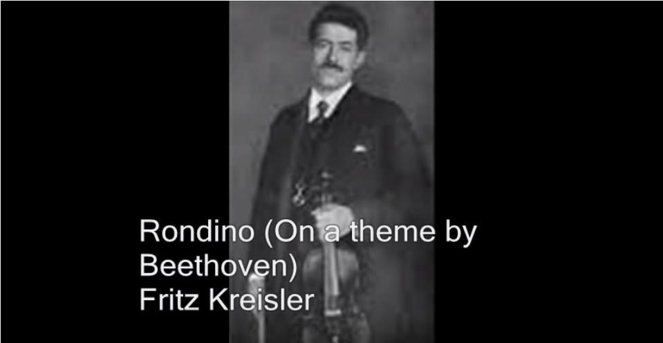 克萊斯勒演奏貝多芬主題小輪旋曲照片